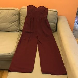 Pant Romper beautiful wine color, gently used.